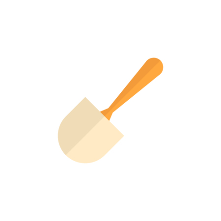toilet: Brush icon in flat color style. Toilet sanitary cleaner wet bathroom Illustration