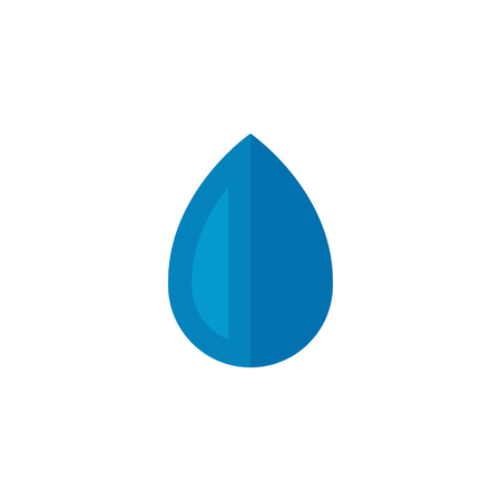 mildew: Water drop icon in flat color style. Nature ecology environment Illustration