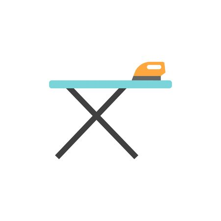 Ironing table icon in flat color style. Fashion laundry cleaning
