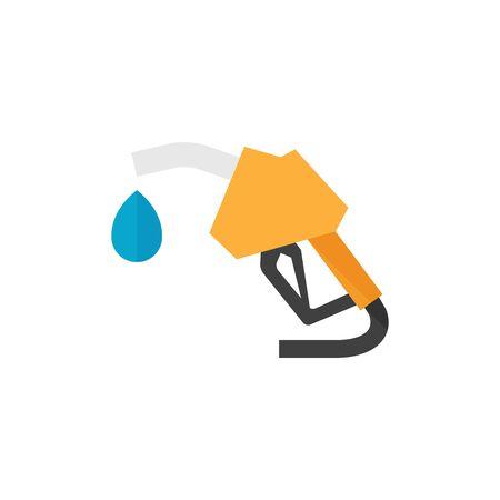 Gas dispenser icon in flat color style. Oil gasoline fuel petroleum pollution