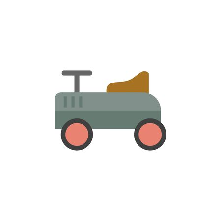 collectors: Toy car icon in flat color style. Kids children playing driver