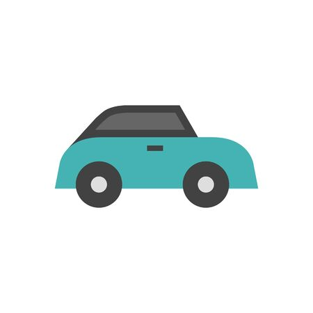 car: Wedding car icons in flat color style. Illustration