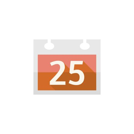 office romance: Valentine calendar icon in flat color style. Love celebrate February date day