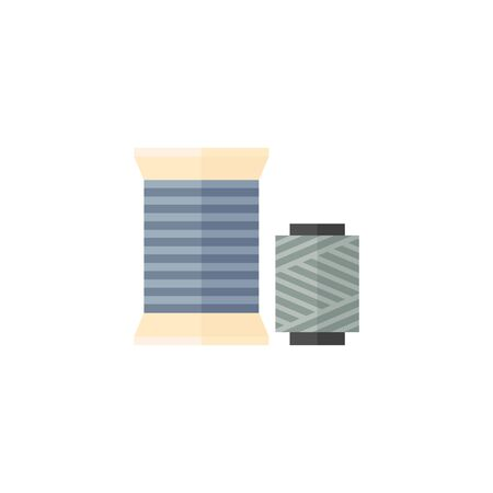 home icon: Yarn icon in flat color style. Sewing tailor dressmaker