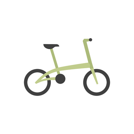 Bicycle icon in flat color style. Sport cycling road city urban folding foldable working