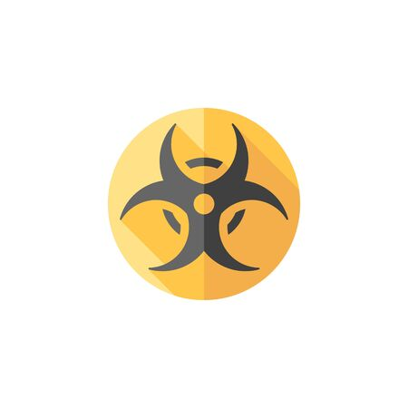 Biohazard symbol icon in flat color style. Science technology biology environment hazard danger