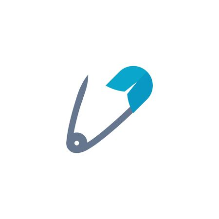 painting: Straight pin icon in flat color style. Fashion industry sewing dressmaker tailor