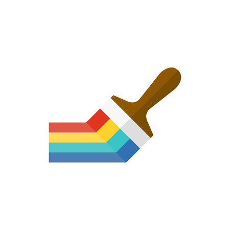 home icon: Paint brush icon in flat color style. Artist, painting, drawing, artwork