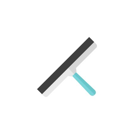 Glass scraper icon in flat color style. Household industrial cleaner office