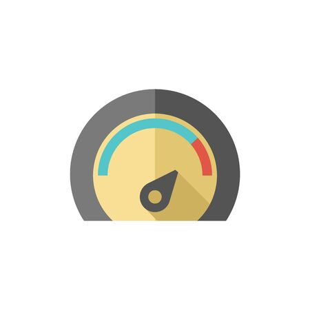 dashboard: Dashboard icon in flat color style control panel, odometer, speedometer Illustration
