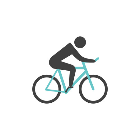 pursuit: Cycling icon in flat color style. Road race tour triathlon time trial pursuit sport bicycle Illustration