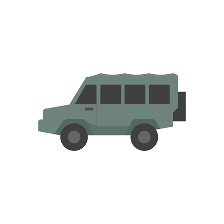 car speed: Offroad car icon in flat color style. Truck, double cabin, 4x4, 4 wheel driver explore safari