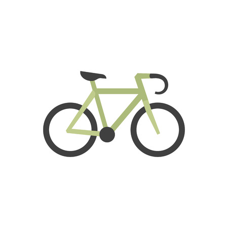 transportation silhouette: Road bicycle icon in flat color style. Sport, race, cycling, speed