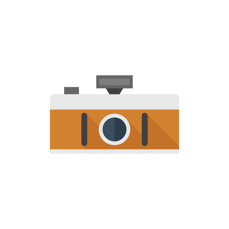 wide angle: Panorama camera icon in flat color style. Landscape nature architecture photography lens