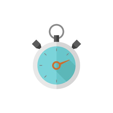 Stopwatch icon in flat color style. Speed, time, deadline, sport, start, stop Illustration