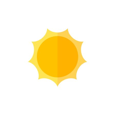 Weather forecast partly sunny icon in flat color style. Illustration