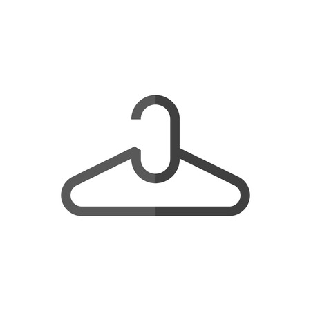 shirt hanger: Clothes hanger icon in flat color style. Laundry household Illustration