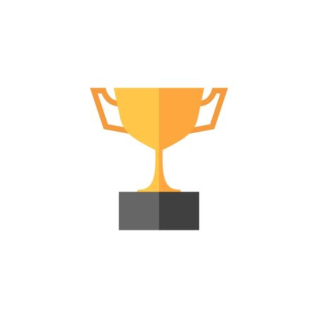 honor: Trophy icon in flat color style. Winner champion prize honor celebration cup gold bronze Illustration