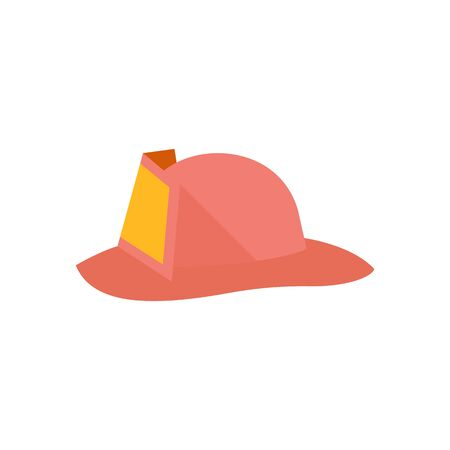 security: Fireman hat icon in flat color style. Helmet fire department fighter service equipment