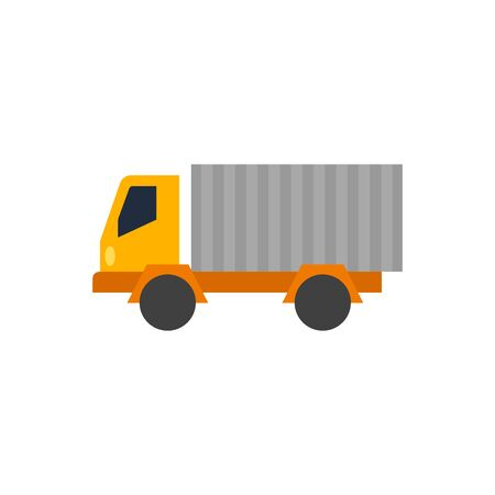 lorry: Truck icon in flat color style. Freight, transport, logistic, delivery Illustration