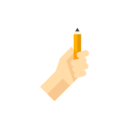 Pencil measure icon in flat color style. Painting, scaling, artist Illustration