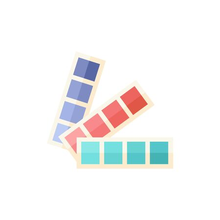 Color swatches icon in flat color style. Printing publishing book Illustration