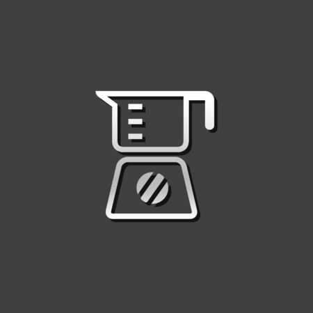 appliances: Juicer icon in metallic grey color style. Household kitchen appliance