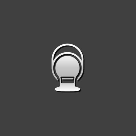 home icon: Painting can icon in metallic grey color style.