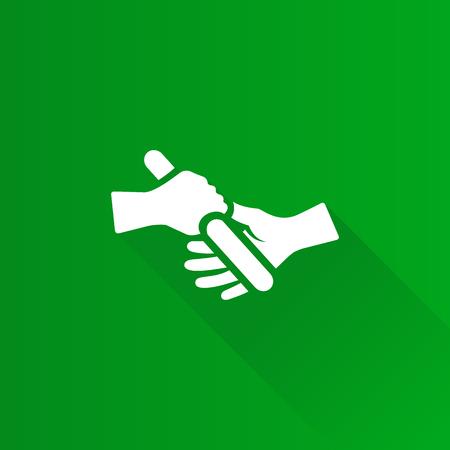 Relaislaufsymbol im Metro-Benutzeroberflächen-Farbstil. Sportwettbewerb athletisch Vektorgrafik