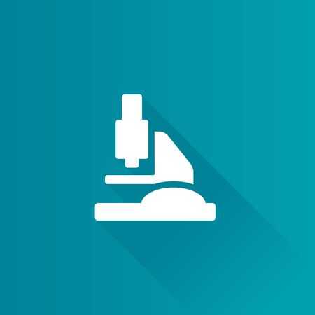 laboratory equipment: Microscope icon in Metro user interface color style. Science equipment laboratory