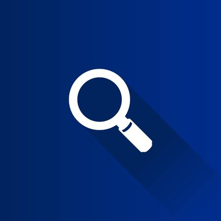 reviews: Magnifier icon in Metro user interface color style. Zoom explore find locate Illustration