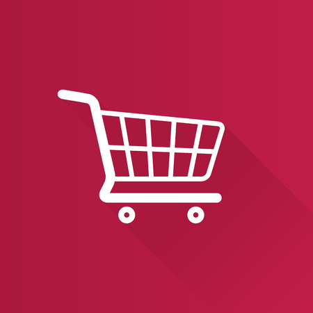 supermarket: Shopping cart icon in Metro user interface color style. Buying ecommerce Illustration