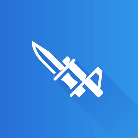 stainless: Bayonet knife icon in Metro user interface color style. Weapon vintage riffle assault