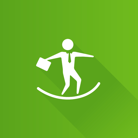 Businessman challenge icon in Metro user interface color style.