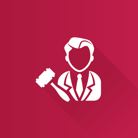 Auctioneer icon in Metro user interface color style. Business auction bidding marketplace