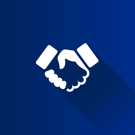 business meeting: Handshake icon in Metro user interface color style. Business people agreement Illustration