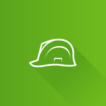 Hard hat icon in Metro user interface color style. Construction head protection