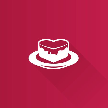 cheesecake: Cake icon in Metro user interface color style. Food sweet delicious Illustration