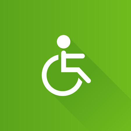 Disabled access icon in Metro user interface color style. Road building wheelchair Illustration