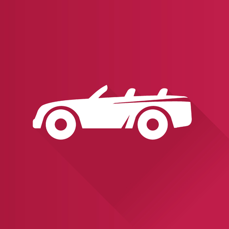 Sport car icon in Metro user interface color style. Luxury speed coupe convertible
