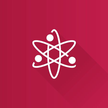 Atom structure icon in Metro user interface color style. Science education