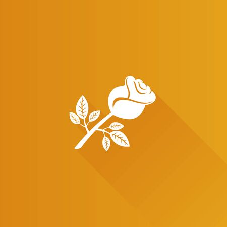 Rose icon in Metro user interface color style. Flower plant romantic