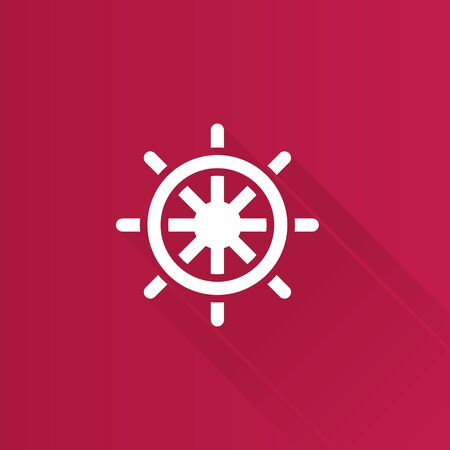 Ship steer wheel icon in Metro user interface color style. Transportation sea navigate
