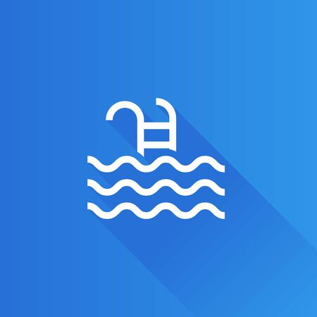 Swimming pool icon in Metro user interface color style. Athlete fitness water sport Illustration