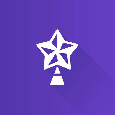 christmas decor: Christmas star icon in Metro user interface color style. Celebration season December