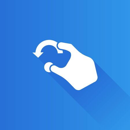 track pad: Finger gesture icon in Metro user interface color style. Gadget touch pad smart phone laptop