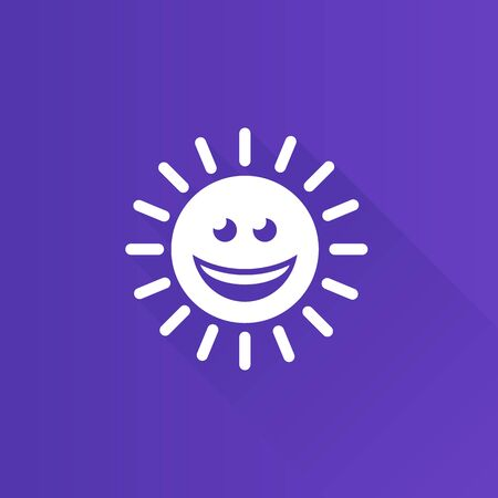Weather forecast sunny icon in Metro user interface color style. Meteorology overcast Illustration