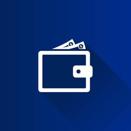 pay money: Wallet icon in Metro user interface color style. Money case cash shopping Illustration