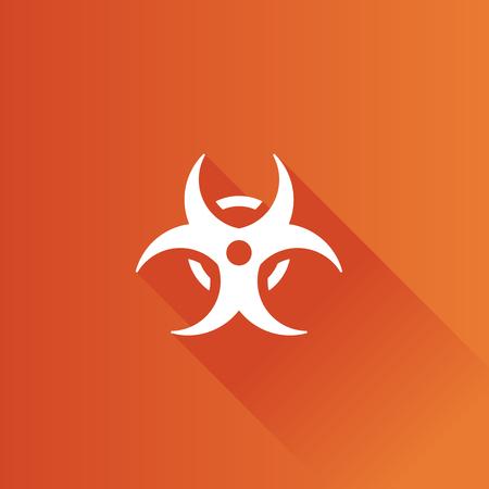 Biohazard symbol icon in Metro user interface color style. Science technology hazard