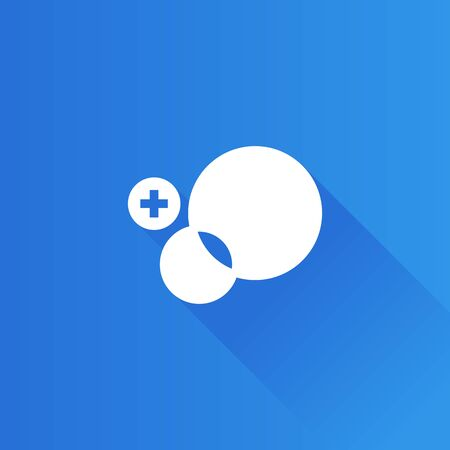 Circles and plus sign icon in Metro user interface color style. Social media interaction Illustration